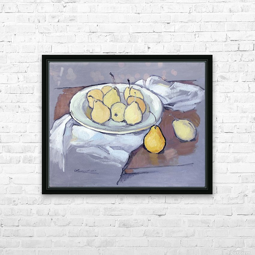 Pears-2 HD Sublimation Metal print with Decorating Float Frame (BOX)