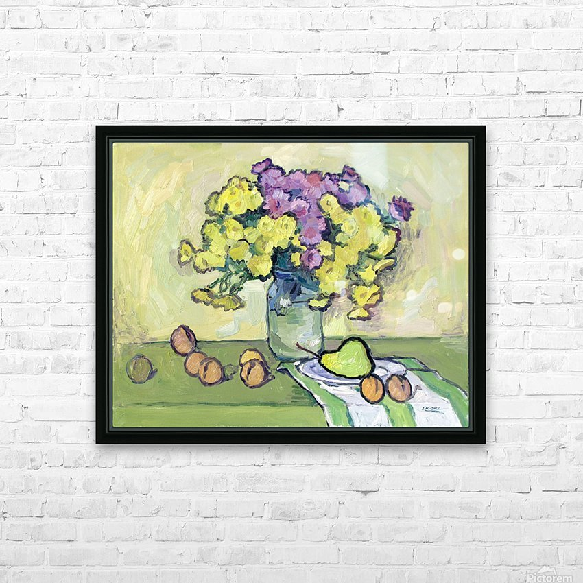 Chryzantemums HD Sublimation Metal print with Decorating Float Frame (BOX)