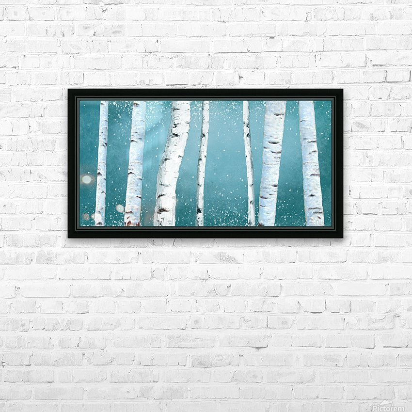birch tree HD Sublimation Metal print with Decorating Float Frame (BOX)
