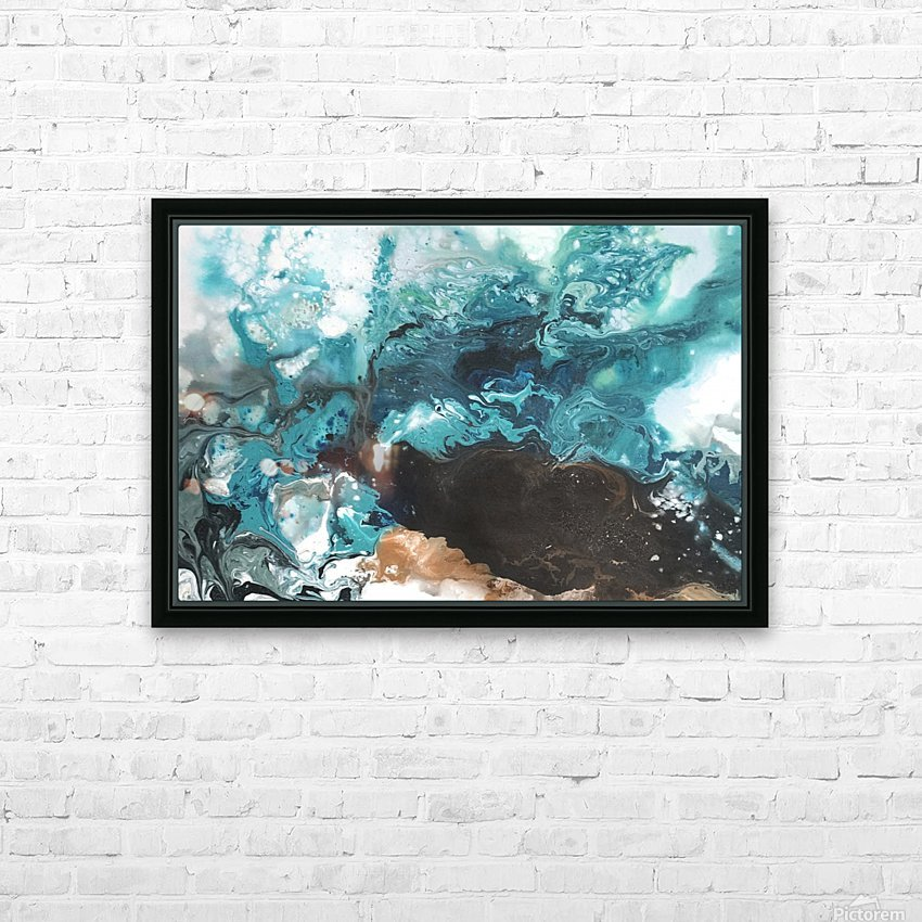 Ocean Glass HD Sublimation Metal print with Decorating Float Frame (BOX)