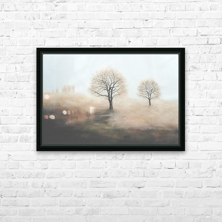 Foggy HD Sublimation Metal print with Decorating Float Frame (BOX)