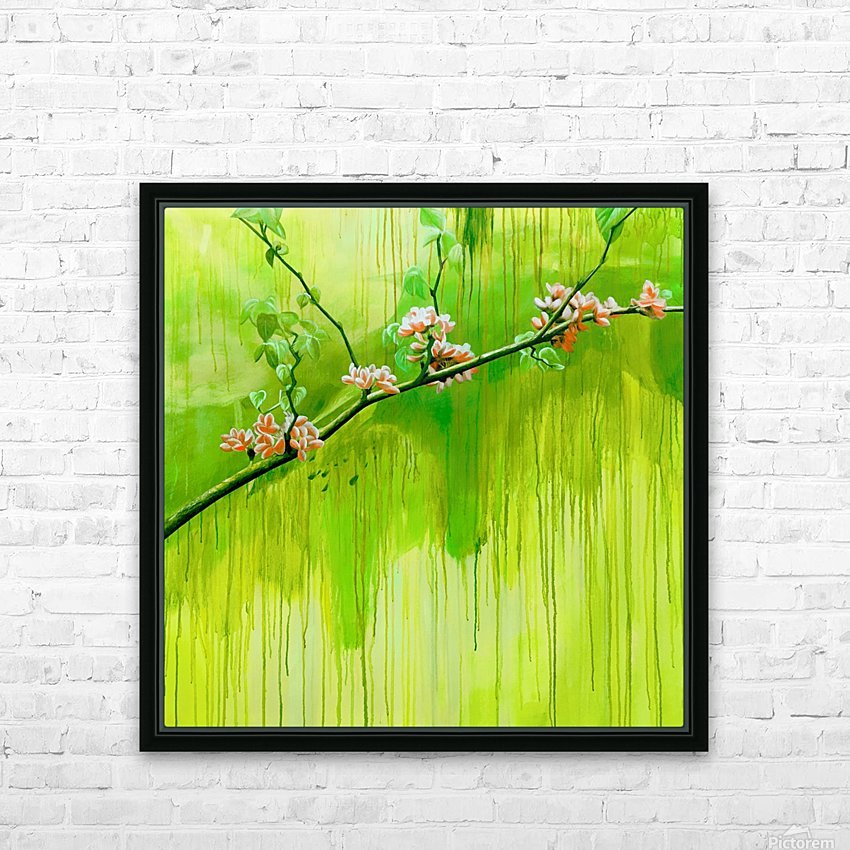 Green Spring HD Sublimation Metal print with Decorating Float Frame (BOX)