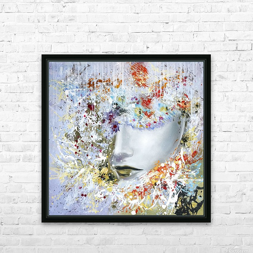 LadyinYellow HD Sublimation Metal print with Decorating Float Frame (BOX)