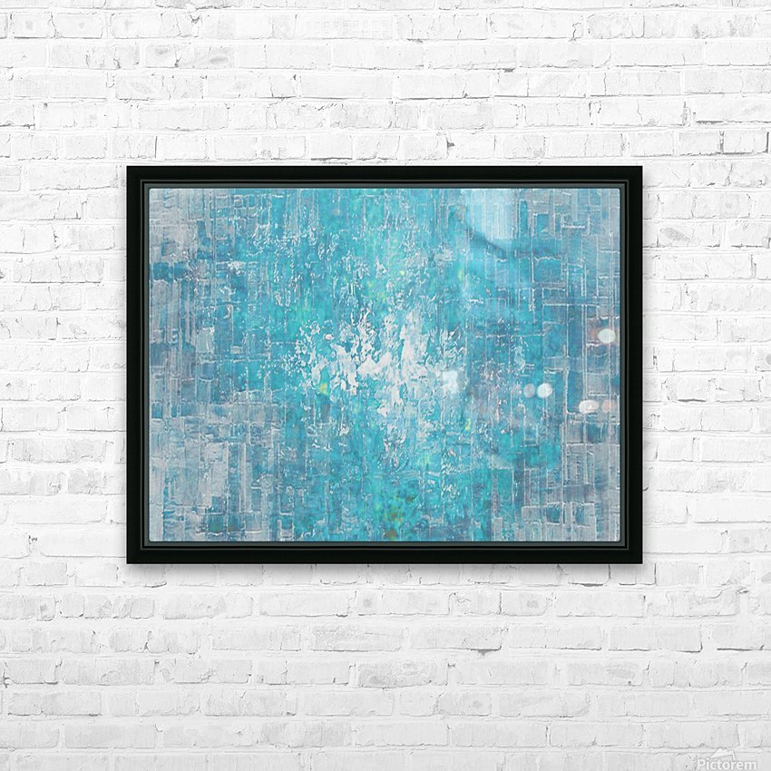 Spring Rain HD Sublimation Metal print with Decorating Float Frame (BOX)
