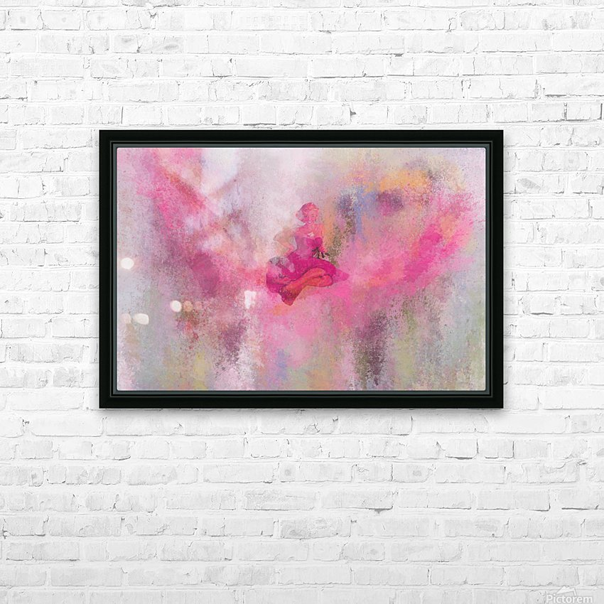 Pink HD Sublimation Metal print with Decorating Float Frame (BOX)
