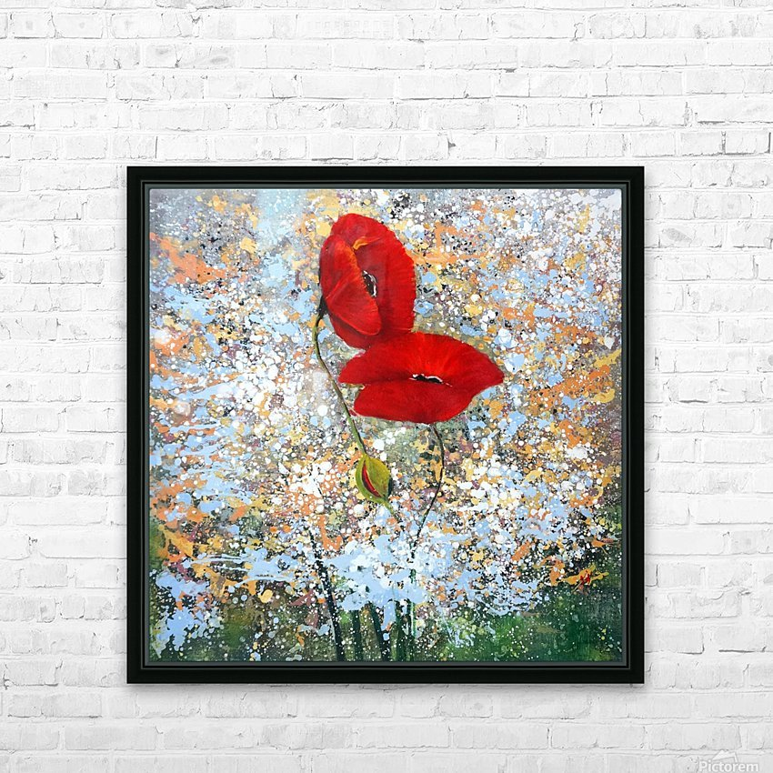 Poppy HD Sublimation Metal print with Decorating Float Frame (BOX)