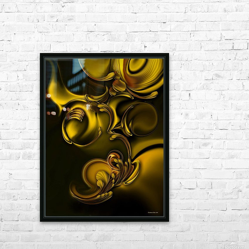 Abstraction With Meditation HD Sublimation Metal print with Decorating Float Frame (BOX)