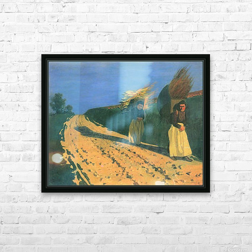 Wood-bearing women by Felix Vallotton HD Sublimation Metal print with Decorating Float Frame (BOX)