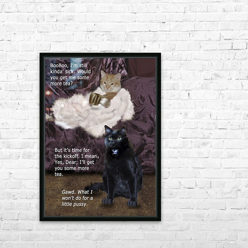 LittlePussy HD Sublimation Metal print with Decorating Float Frame (BOX)