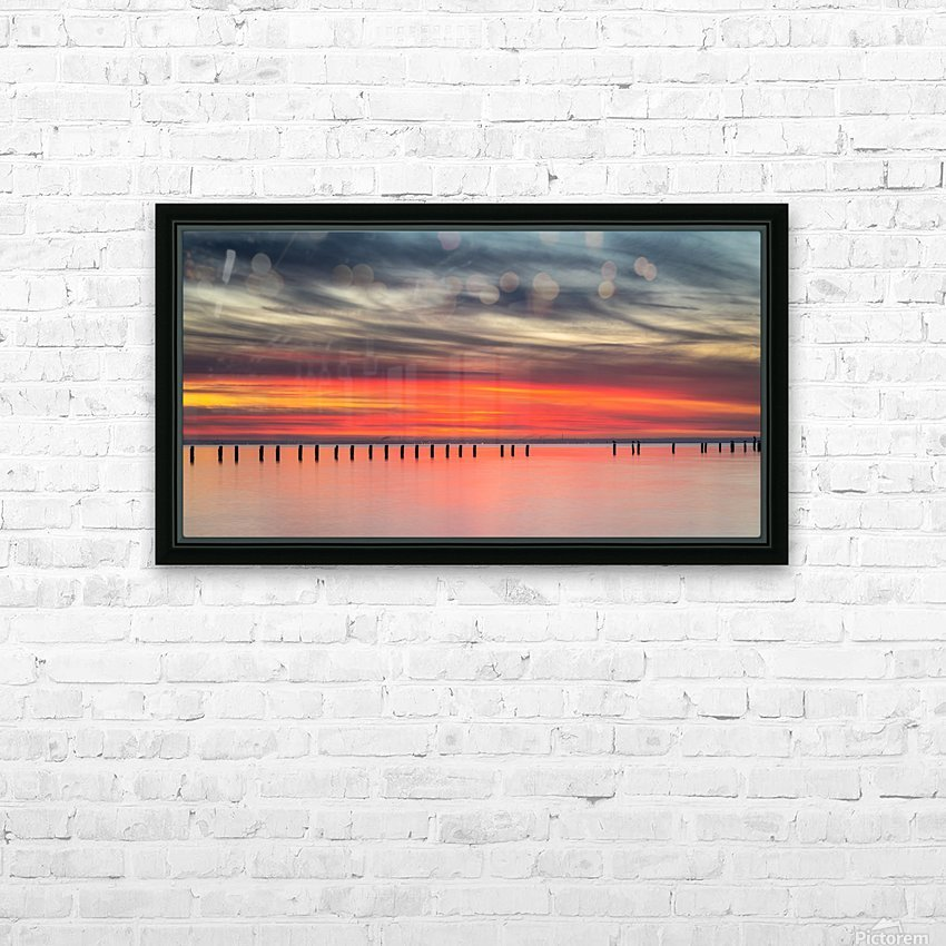 Striking Sunset at Clifton Springs HD Sublimation Metal print with Decorating Float Frame (BOX)