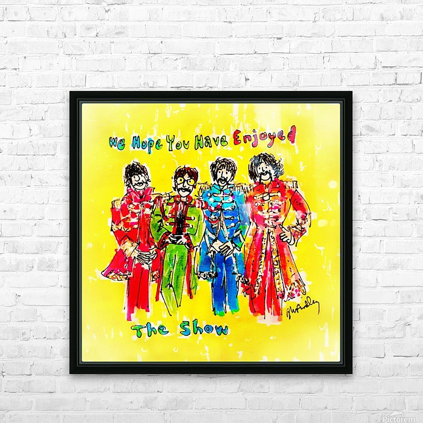 The Beatles - Enjoyed The Show HD Sublimation Metal print with Decorating Float Frame (BOX)