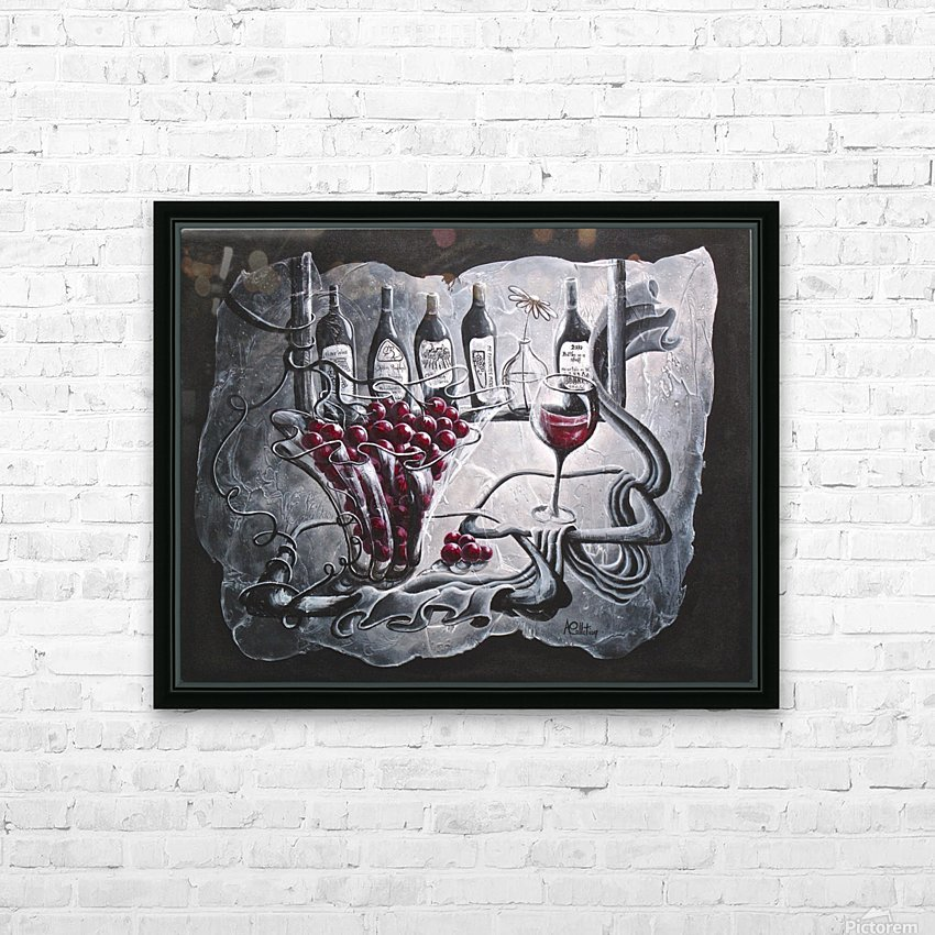 My favorite merlot HD Sublimation Metal print with Decorating Float Frame (BOX)
