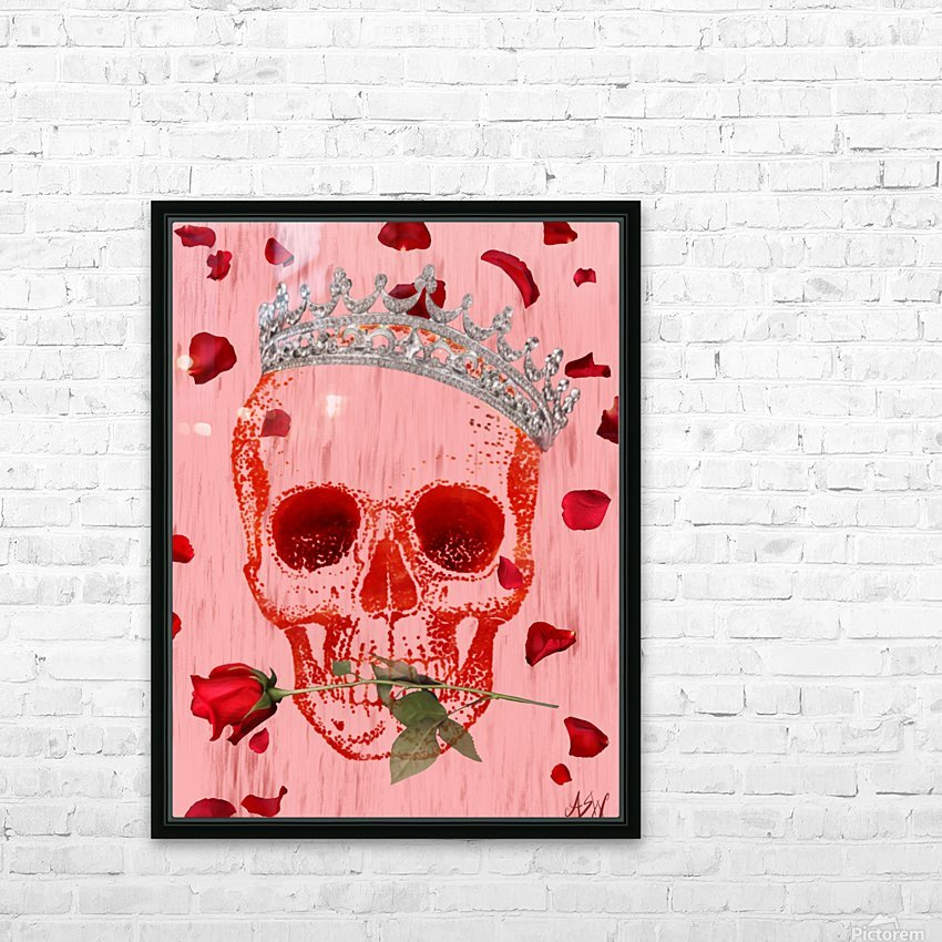 Charming Skull HD Sublimation Metal print with Decorating Float Frame (BOX)
