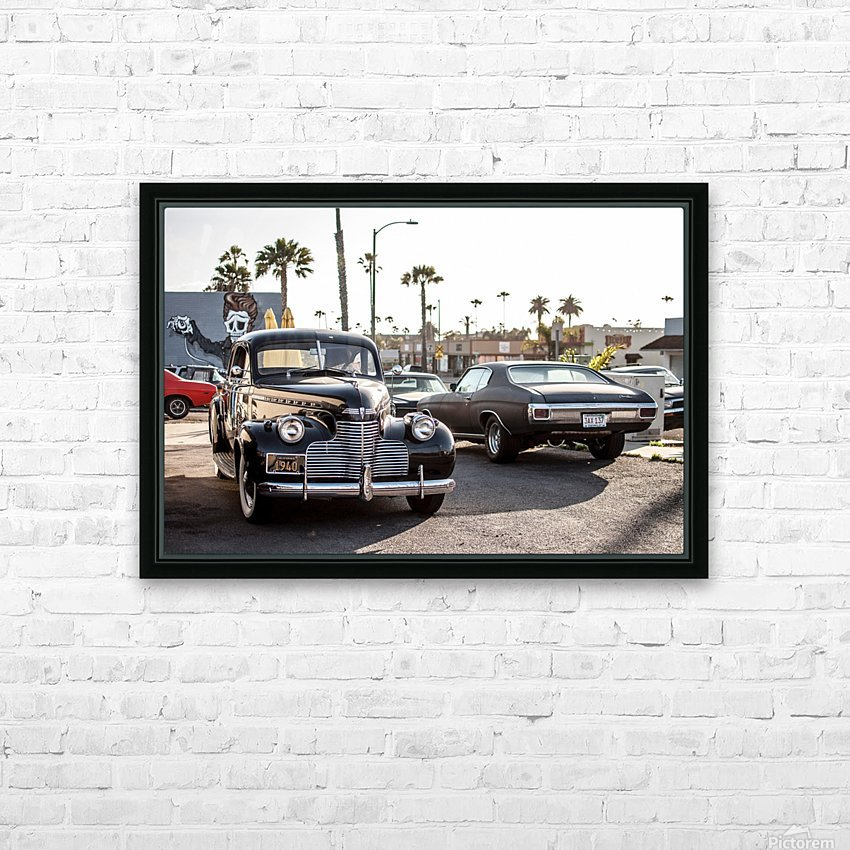 Classy Old school Car HD Sublimation Metal print with Decorating Float Frame (BOX)