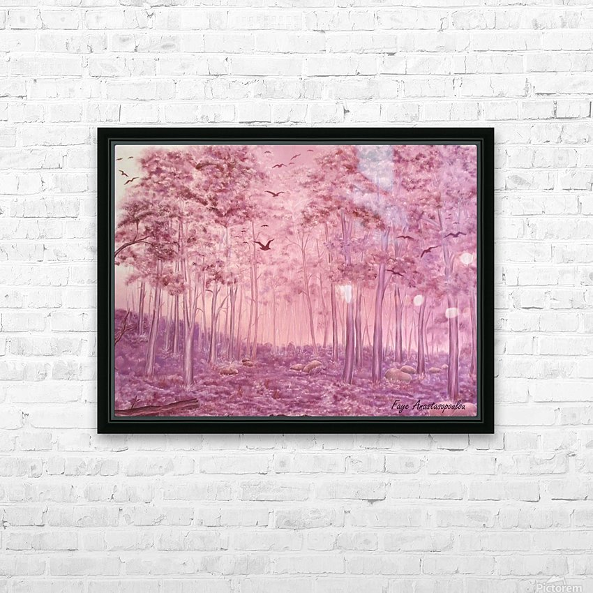 Pink Woods HD Sublimation Metal print with Decorating Float Frame (BOX)
