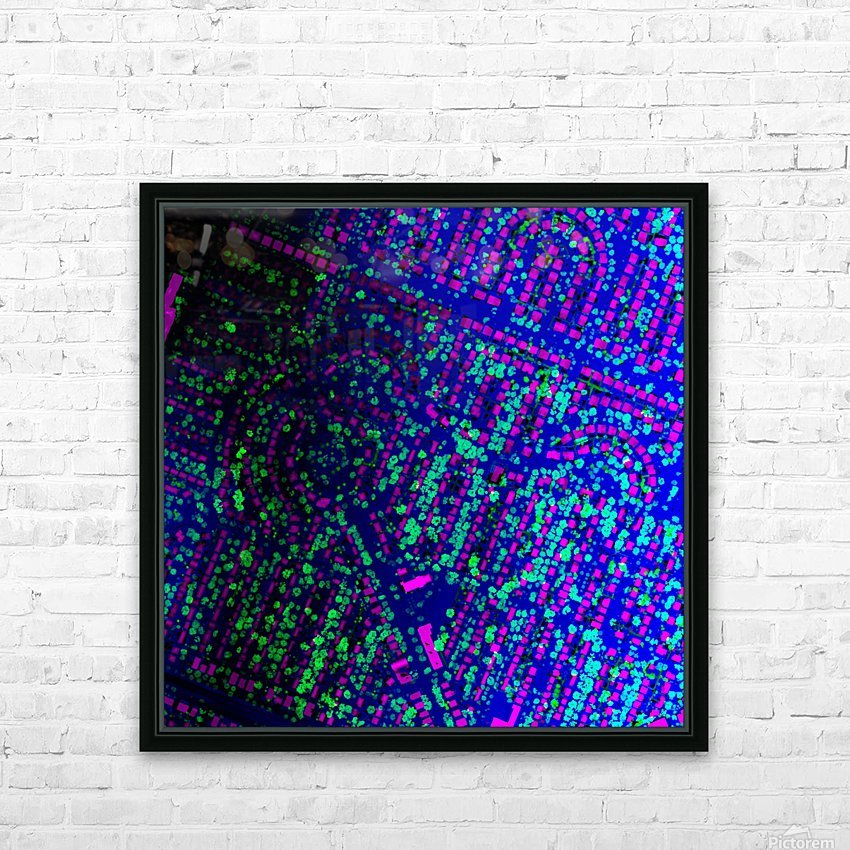LiMTL - Montreal as seen by lasers: Unknown 2 HD Sublimation Metal print with Decorating Float Frame (BOX)