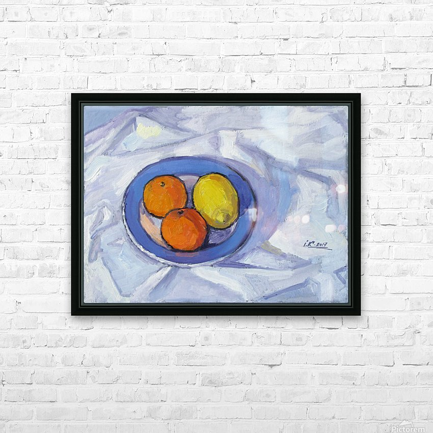 Oranges and Lemon HD Sublimation Metal print with Decorating Float Frame (BOX)