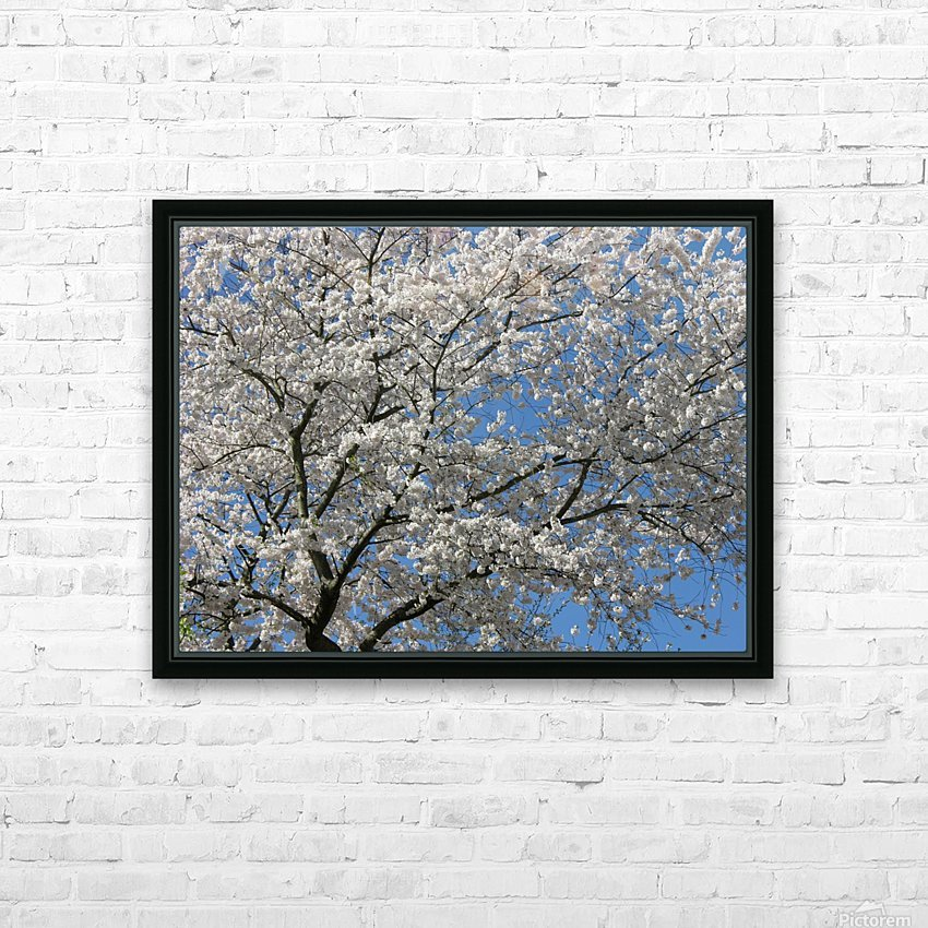 White Spring Blossoms Photograph HD Sublimation Metal print with Decorating Float Frame (BOX)