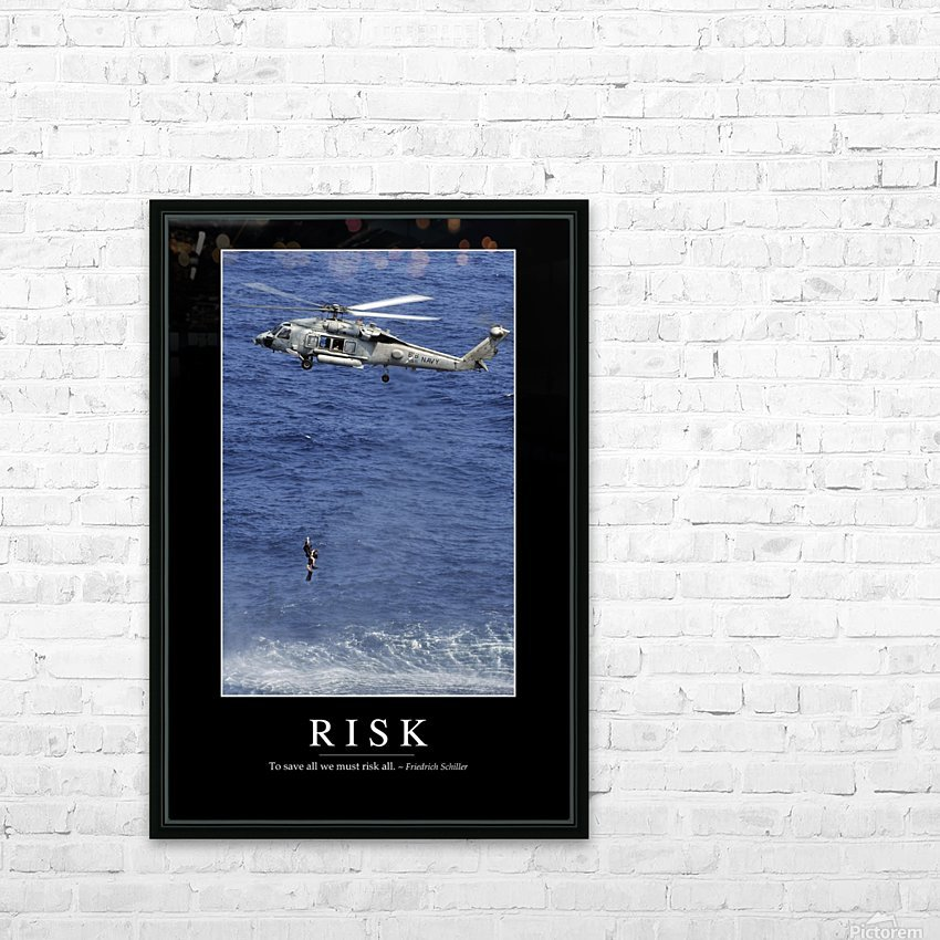 Risk: Inspirational Quote and Motivational Poster HD Sublimation Metal print with Decorating Float Frame (BOX)