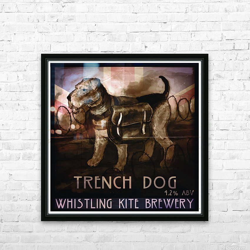 Whistling Kite Brewery: Trench Dog HD Sublimation Metal print with Decorating Float Frame (BOX)