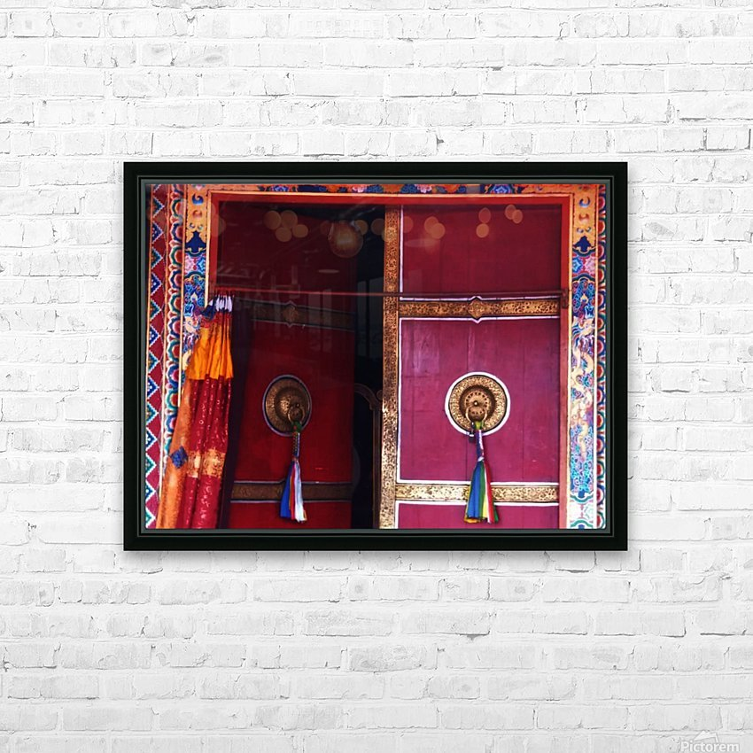 Beautiful door HD Sublimation Metal print with Decorating Float Frame (BOX)