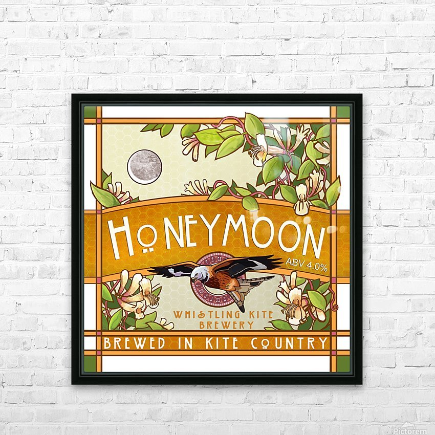 Whistling Kite Brewery: Honeymoon HD Sublimation Metal print with Decorating Float Frame (BOX)
