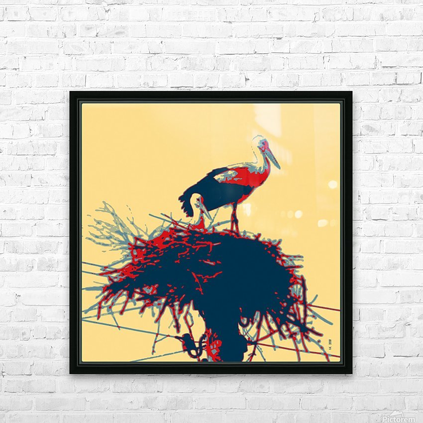 Storks-2 HD Sublimation Metal print with Decorating Float Frame (BOX)