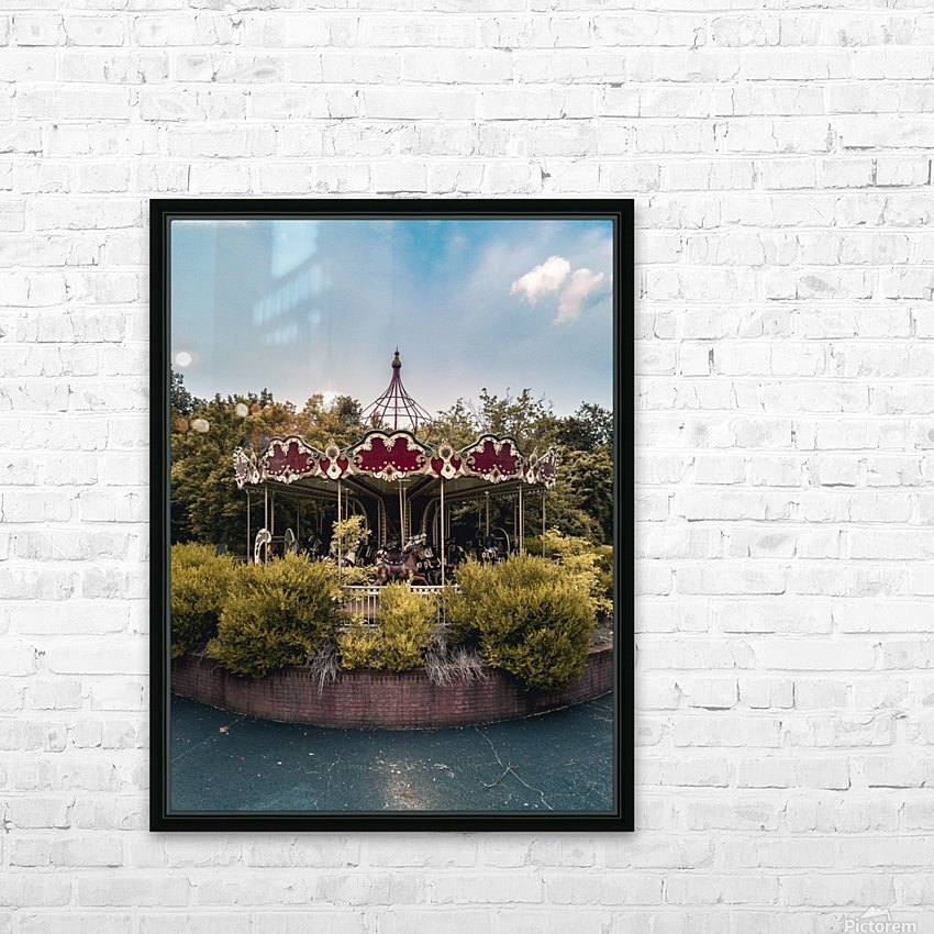 Abandoned Theme Park Merry Go Round HD Sublimation Metal print with Decorating Float Frame (BOX)