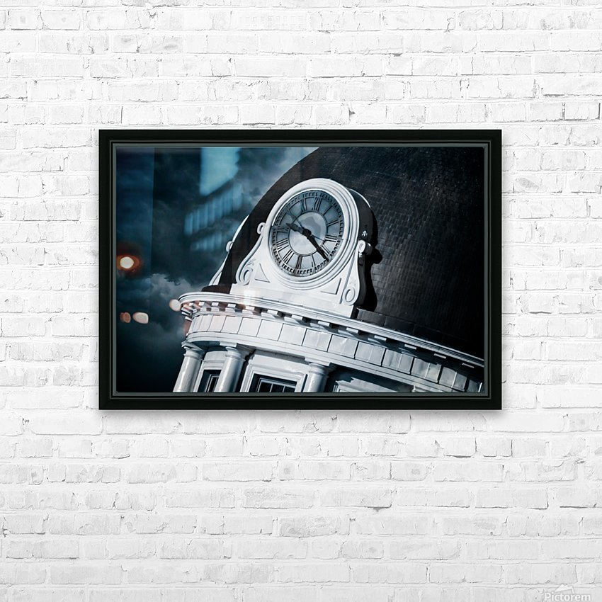 Kingstons Clock HD Sublimation Metal print with Decorating Float Frame (BOX)