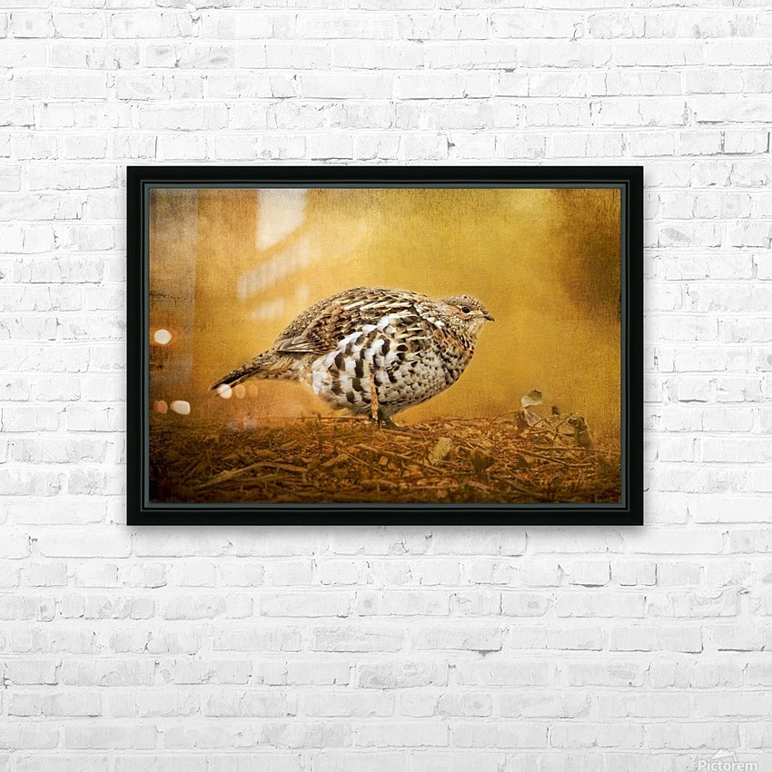 Female Ruffed Grouse HD Sublimation Metal print with Decorating Float Frame (BOX)