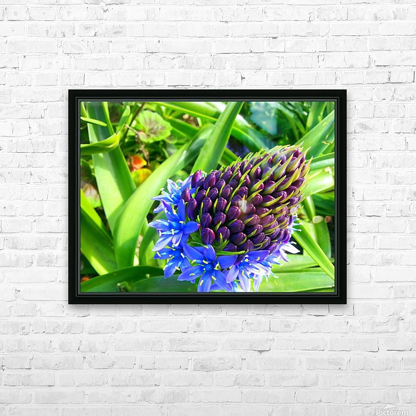 Blue Flower HD Sublimation Metal print with Decorating Float Frame (BOX)