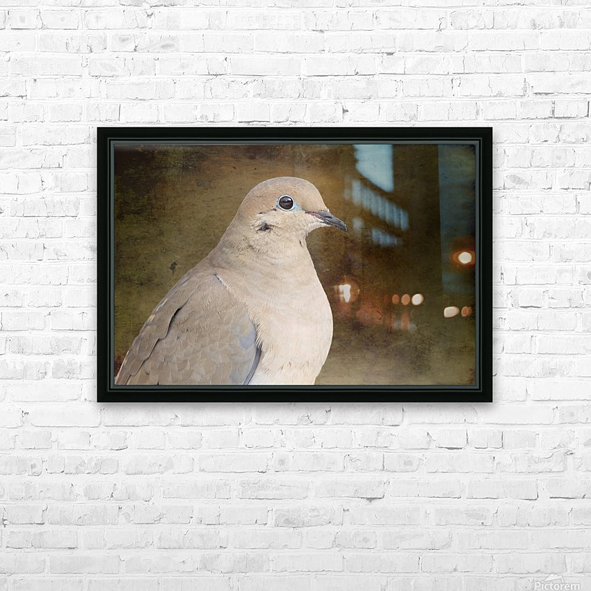 Mourning Dove HD Sublimation Metal print with Decorating Float Frame (BOX)