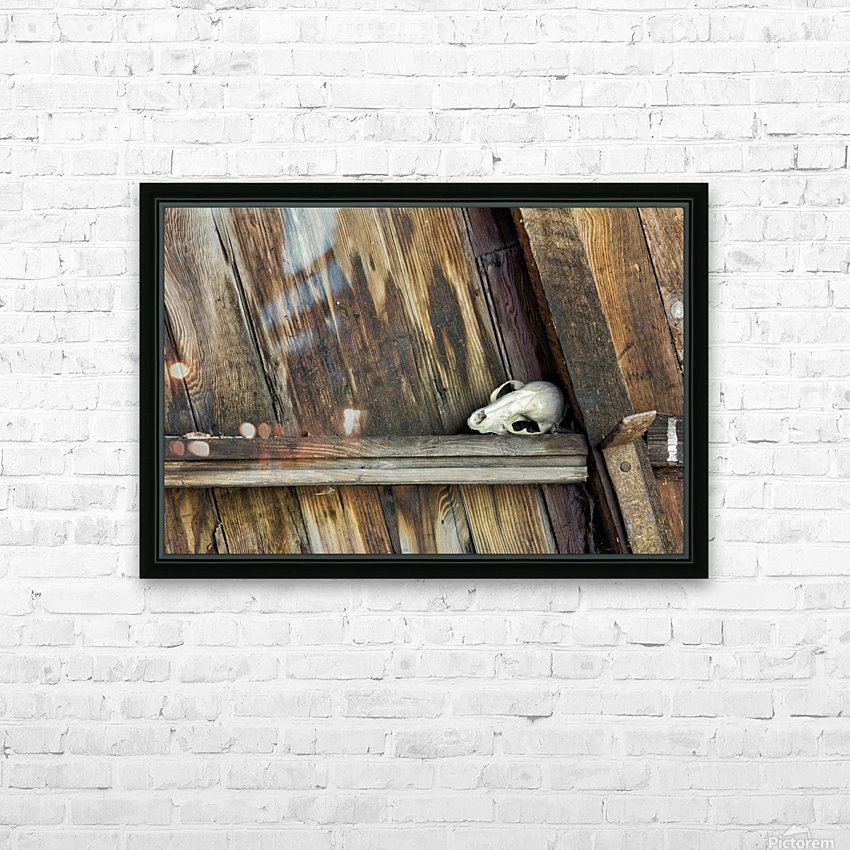 Bone and Wood HD Sublimation Metal print with Decorating Float Frame (BOX)