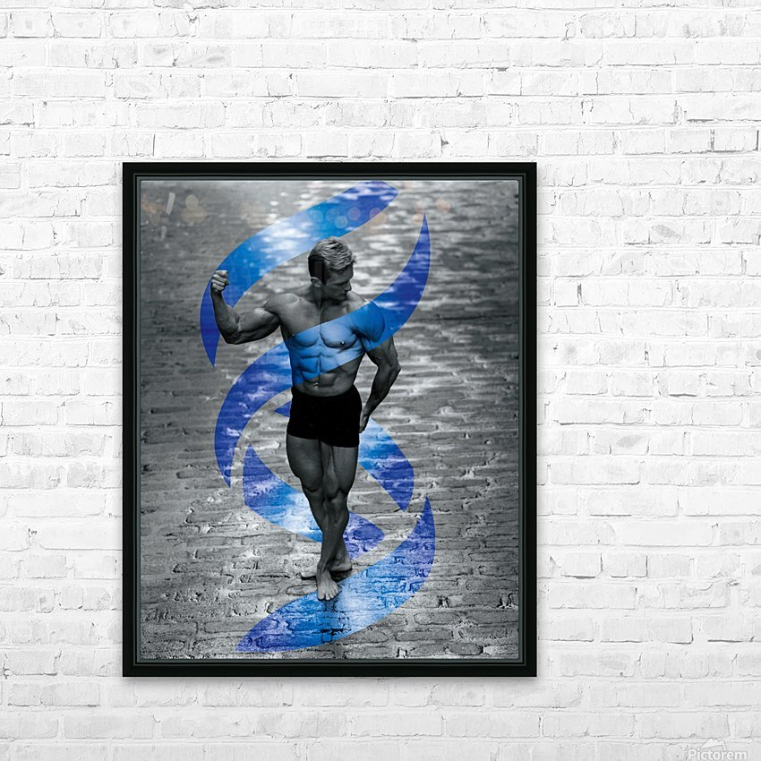 Cobble-Stone Physique with EAS DNA swirl  HD Sublimation Metal print with Decorating Float Frame (BOX)