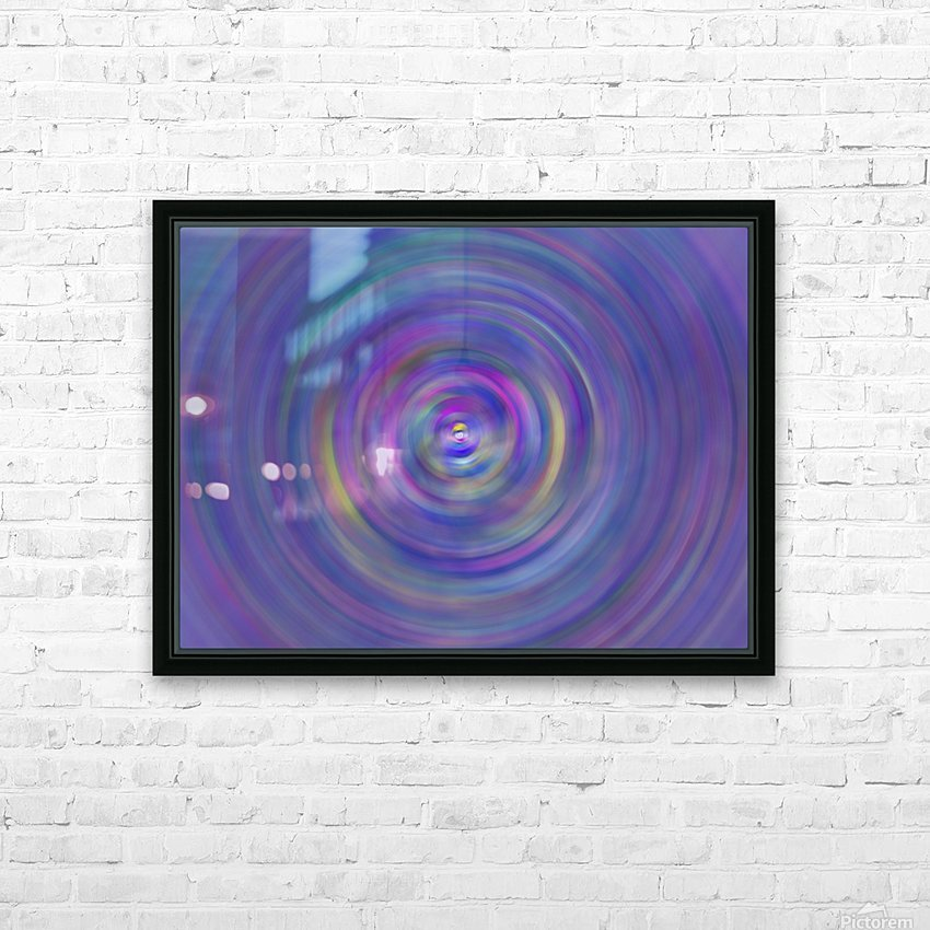 swirl color HD Sublimation Metal print with Decorating Float Frame (BOX)