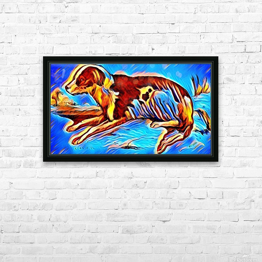 Dog_Splash_OSG HD Sublimation Metal print with Decorating Float Frame (BOX)