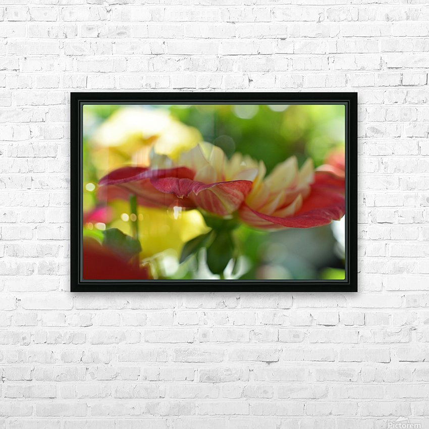 Garden Flowers Art Photograph HD Sublimation Metal print with Decorating Float Frame (BOX)