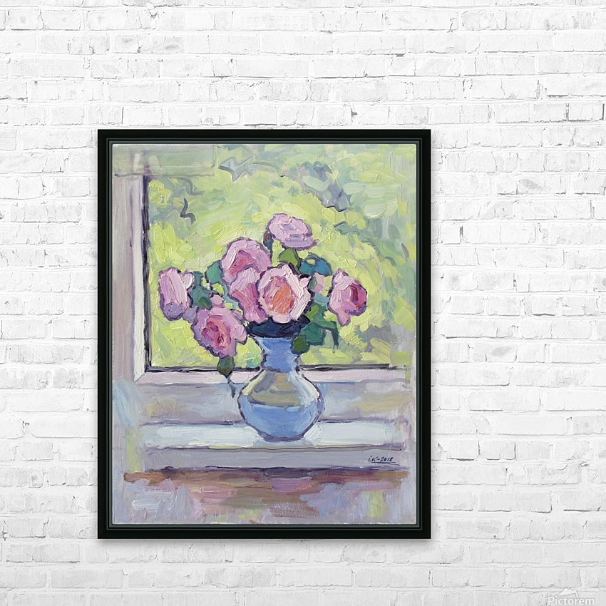 Tea Roses Bouquet on the Windowsill HD Sublimation Metal print with Decorating Float Frame (BOX)