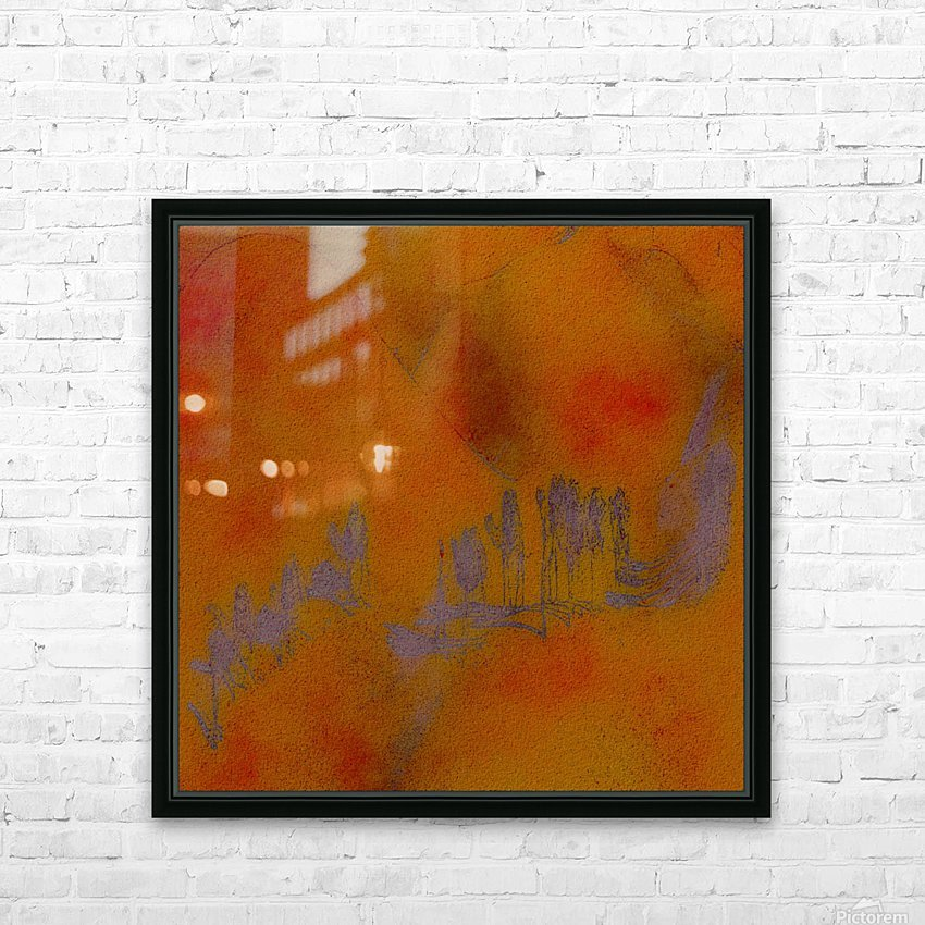 DESERT TRAIN HD Sublimation Metal print with Decorating Float Frame (BOX)