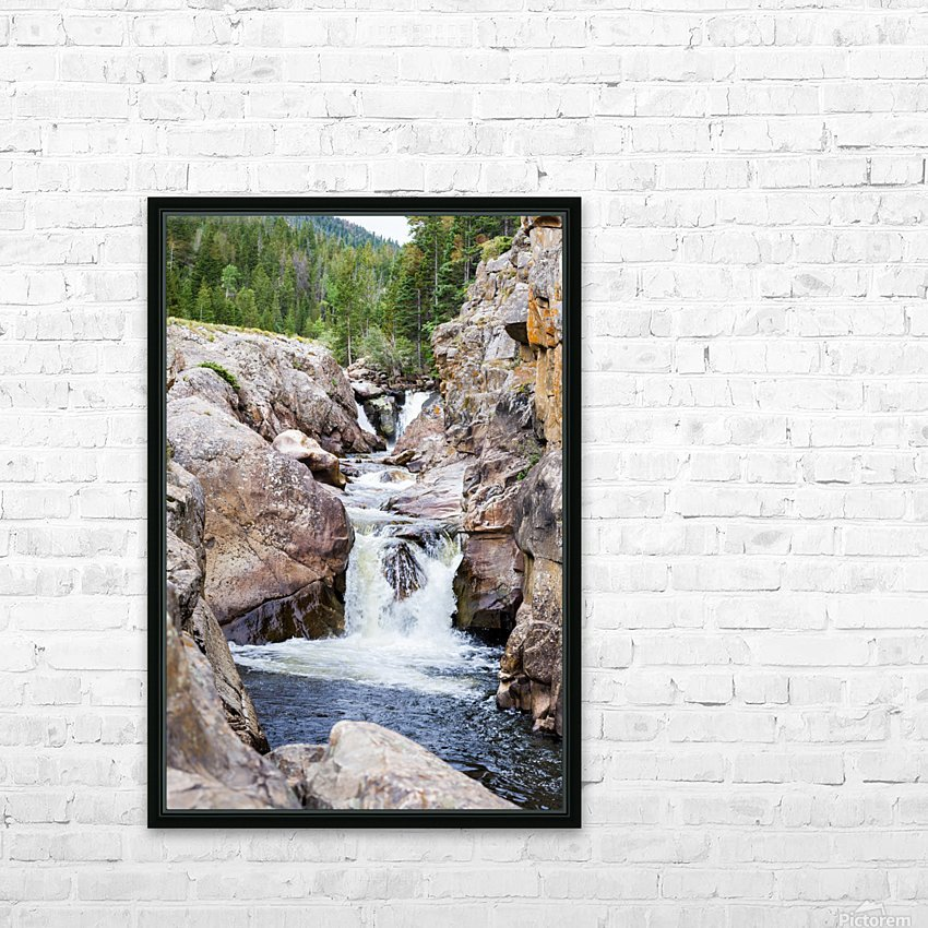 Colorado Waterfall  -  Poudre River  HD Sublimation Metal print with Decorating Float Frame (BOX)
