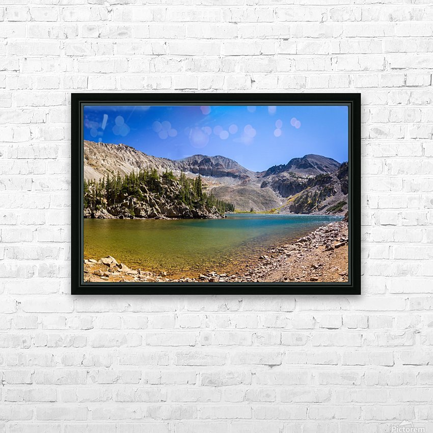 Lake Agnes CO - Glacial Lake  HD Sublimation Metal print with Decorating Float Frame (BOX)