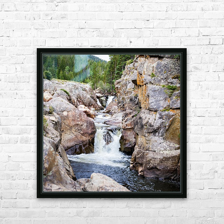 Poudre River Colorado HD Sublimation Metal print with Decorating Float Frame (BOX)