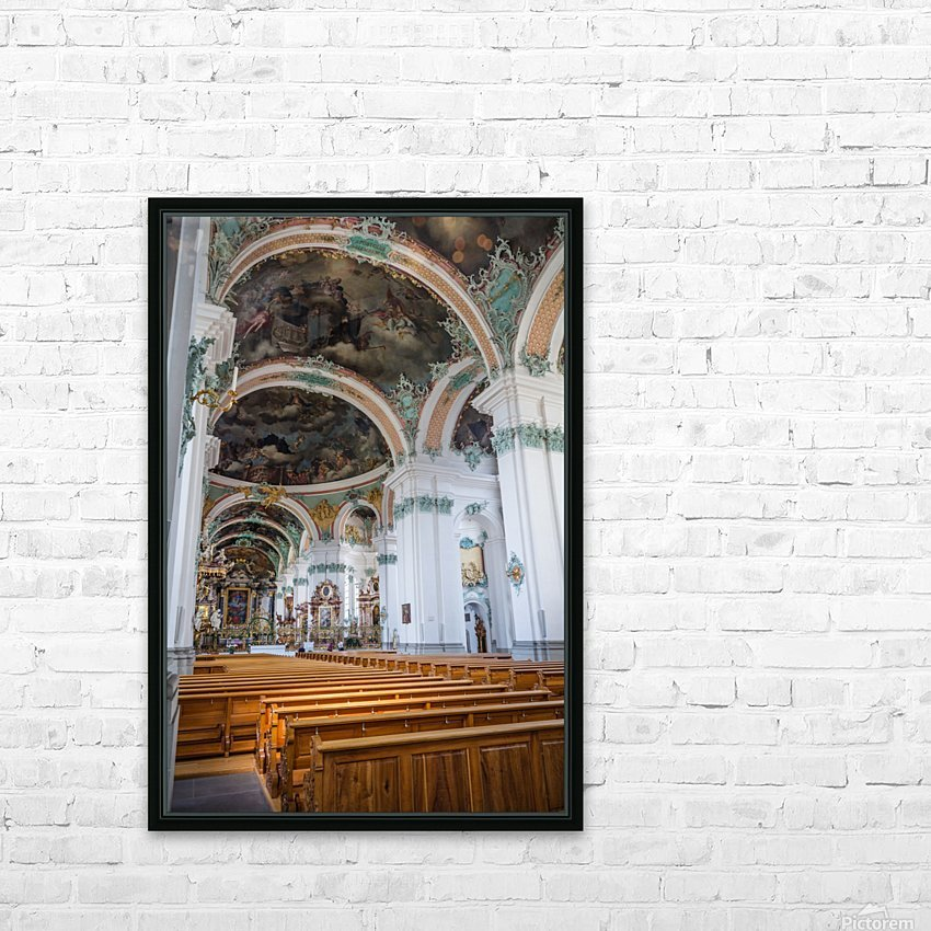 Church Pews HD Sublimation Metal print with Decorating Float Frame (BOX)
