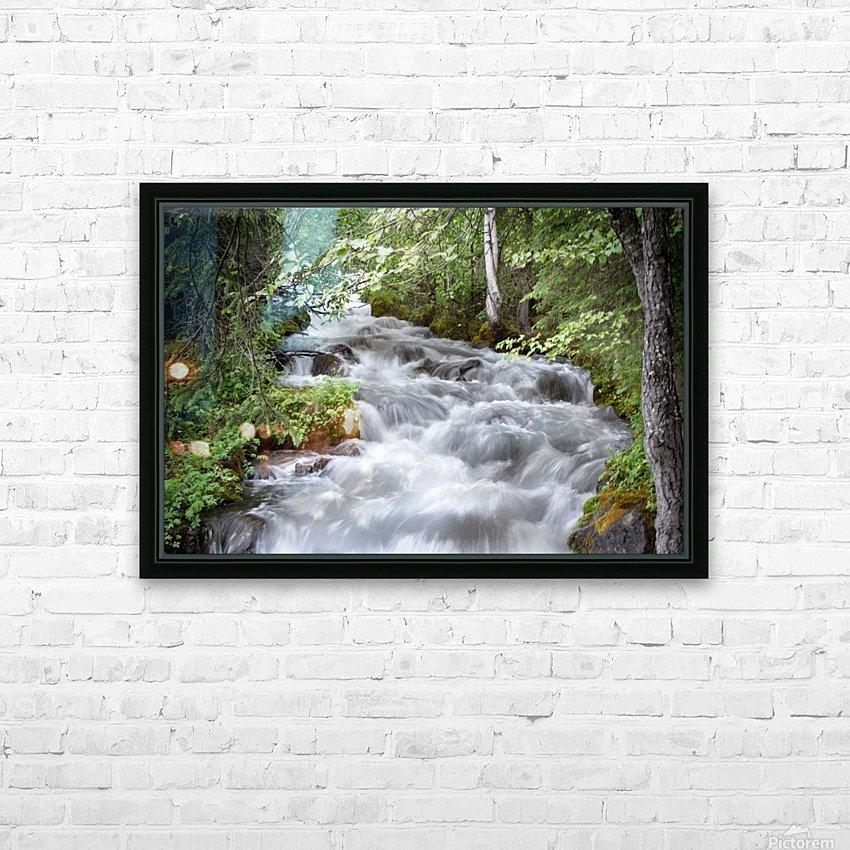Beautiful Waterfall Photos - Alaska HD Sublimation Metal print with Decorating Float Frame (BOX)