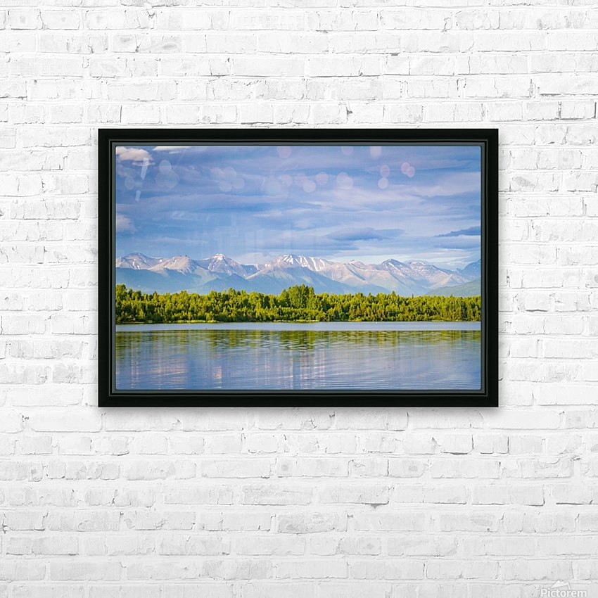 Summer in Alaska HD Sublimation Metal print with Decorating Float Frame (BOX)