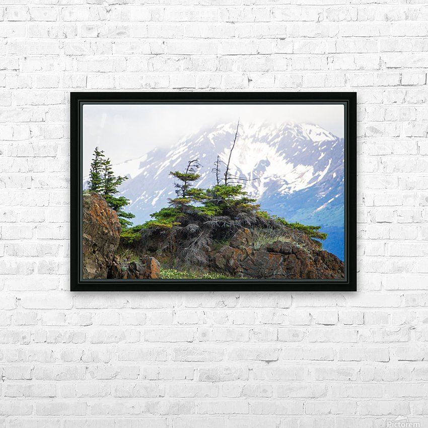 Alaska Scenery Pictures - Cliffs and Mountains HD Sublimation Metal print with Decorating Float Frame (BOX)