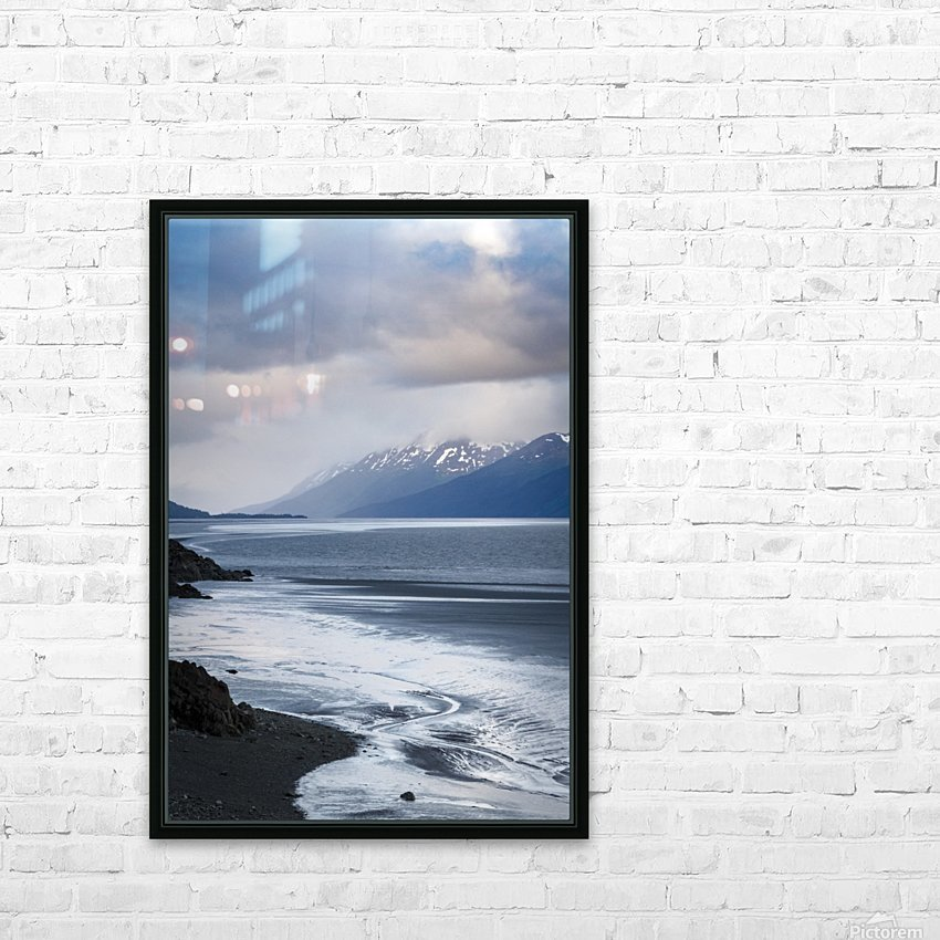 Authentic Alaska HD Sublimation Metal print with Decorating Float Frame (BOX)