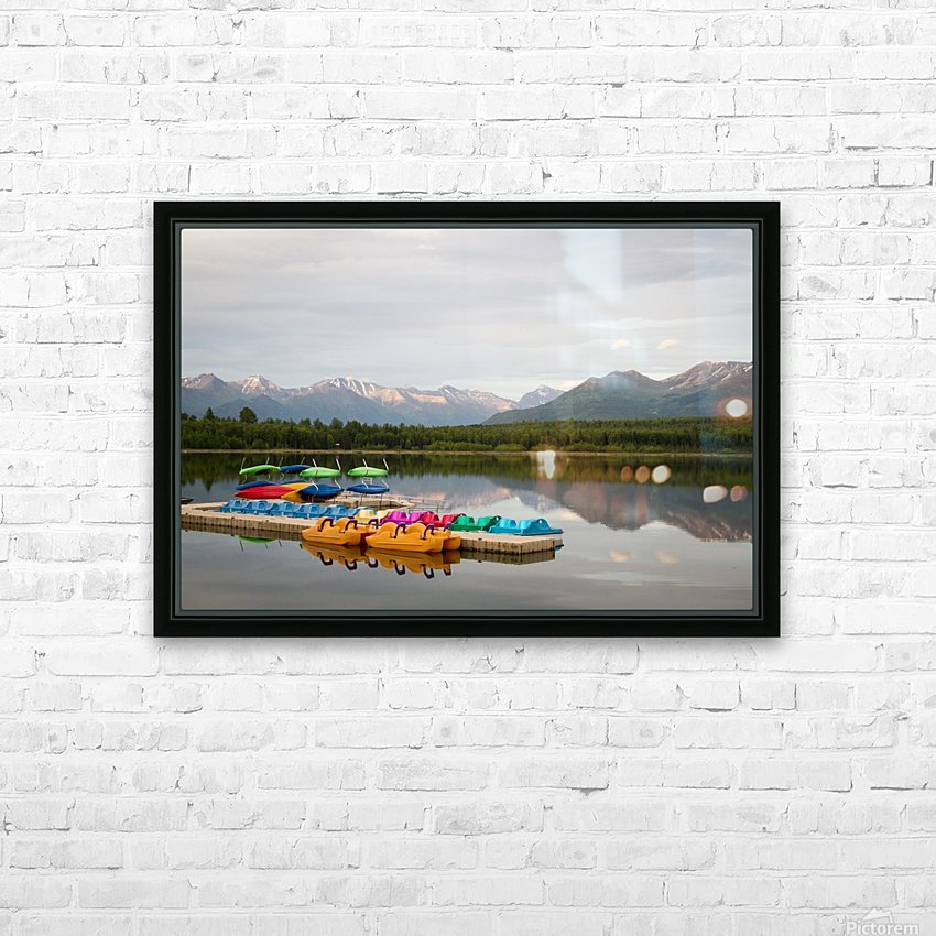 Alaska Lake and Sporting HD Sublimation Metal print with Decorating Float Frame (BOX)