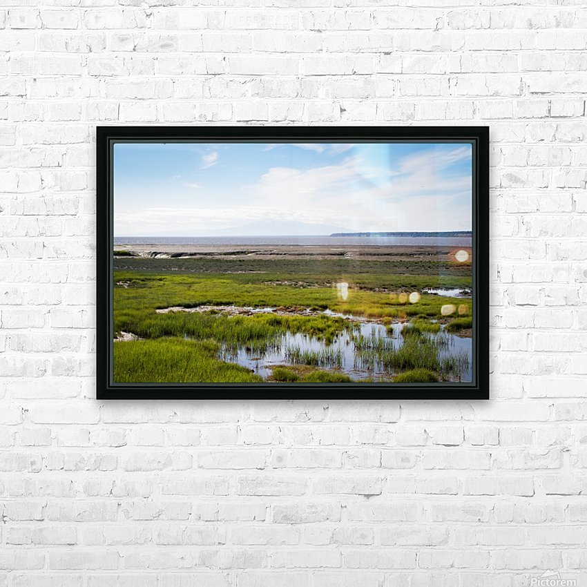 Alaska Scenery - Bay View HD Sublimation Metal print with Decorating Float Frame (BOX)