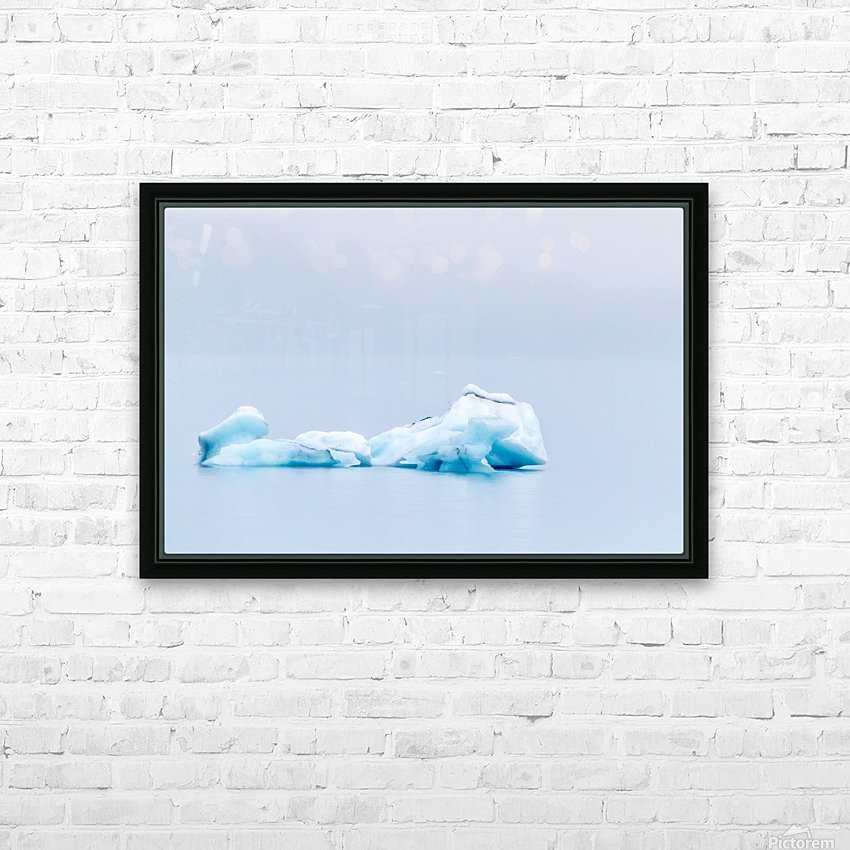 Iceberg Images - Alaska HD sublimation métal imprimé avec décoration flotteur cadre (boîte)